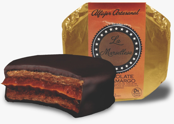 Alfajor Clasico de chocolate semi amargo 70g